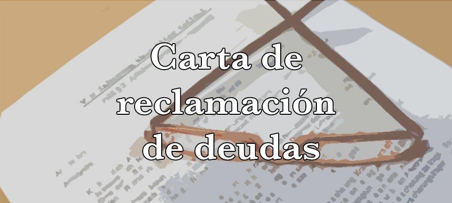 Carta de reclamación de deudas